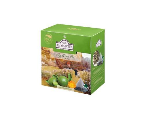 Чай Ahmad Tea зеленый со вкусом лаймового пирога 20 пакетиков
