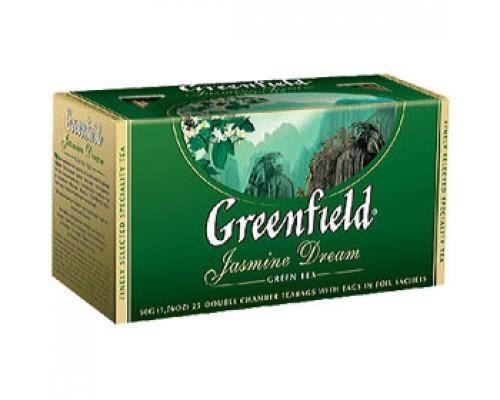Чай GREENFIELD Jasmine Dream с жасмином зеленый, 25пак.