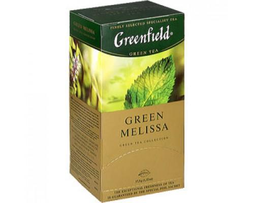 Чай GREENFIELD Green Melissa с мелиссой зеленый, 25пак.