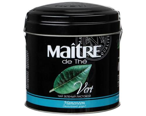 Чай Maitre Наполеон листовой зеленый 100г ж/б