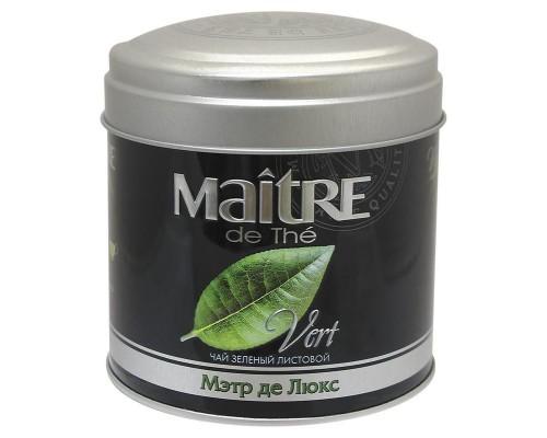 Чай Maitre Де Люкс зеленый 65г ж/б