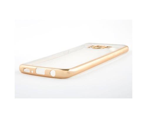 Накладка силикон iBox Blaze для Samsung Galaxy S8 (золотистая рамка)