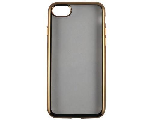 Накладка силикон iBox Blaze для iPhone 7 (4.7) (золотистая рамка)