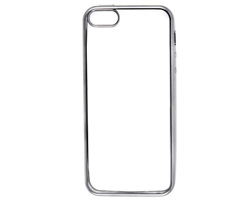 Накладка силикон iBox Blaze для iPhone 5/5S/SE (черная рамка)