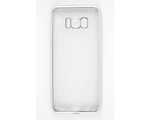 Накладка силикон iBox Blaze для Samsung Galaxy S8 Plus (серебристая рамка)
