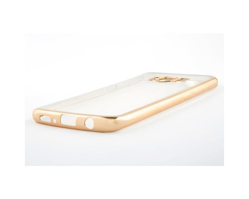Накладка силикон iBox Blaze для Samsung Galaxy S8 Plus (золотистая рамка)