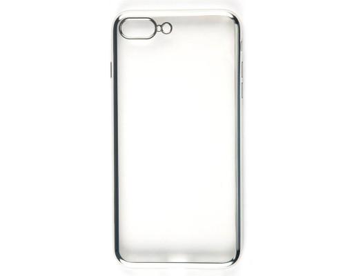 Накладка силикон iBox Blaze для iPhone 7 Plus (5.5) (серебристая рамка)