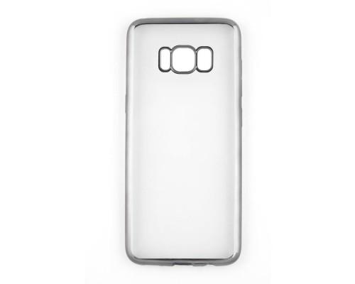 Накладка силикон iBox Blaze для Samsung Galaxy S8 (черная рамка)