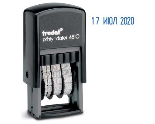 Датер автоматический TRODAT 4810 шрифт, 3,8мм, пластик