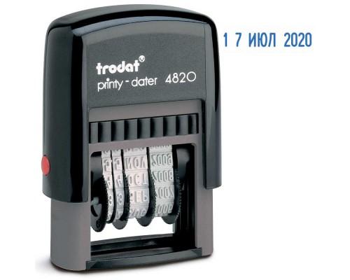 Датер автоматический TRODAT 4820 шрифт, 4мм, пластик