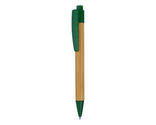"""Ручка шариковая """"Borneo"""" из бамбука, зеленый, черные чернила"""