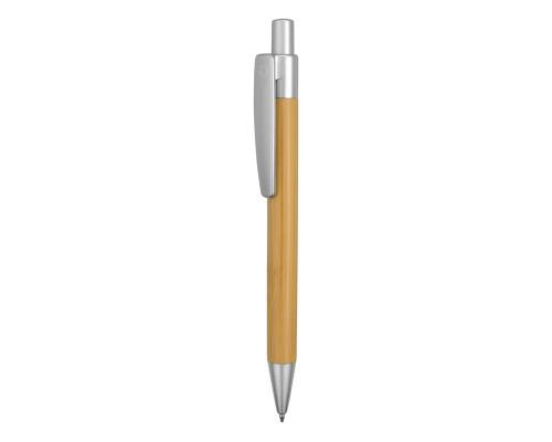 """Ручка шариковая """"Borneo"""" из бамбука, серебряный, черные чернил"""