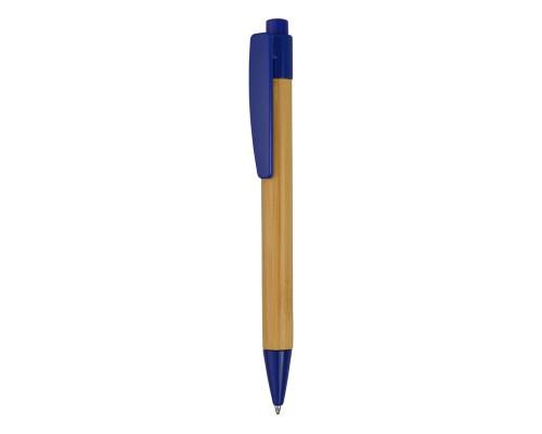 """Ручка шариковая """"Borneo"""" из бамбука, синий, черные чернила"""