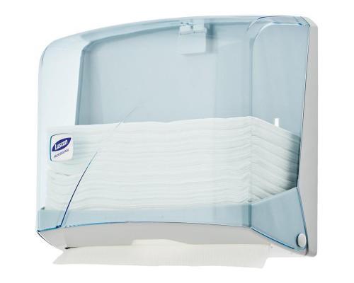 Держатель для листовых полотенец Luscan Professional Z пластиковый синий прозрачный