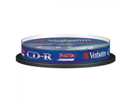 Диск CD-R VERBATIM Cake, 52x, 10шт