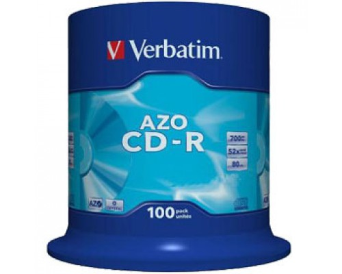 Диск CD-R VERBATIM Cake Box, 52х, 100шт