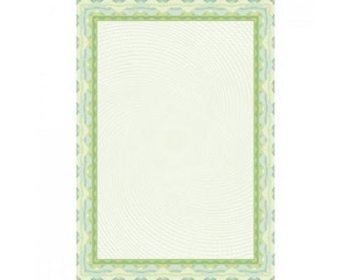 Бумага для сертификатов DECADRY А4, 115г/м2, Зеленая спираль, 25л.