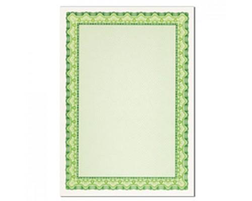Бумага для сертификатов DECADRY А4, 115г/м2, Зеленая волна, 25л.