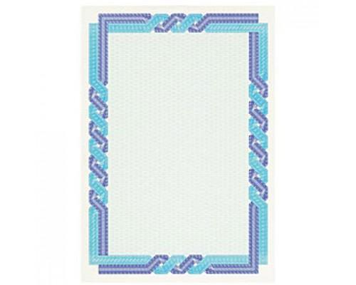 Бумага для сертификатов DECADRY А4, 115г/м2, Сине-голубая пара, 25л.