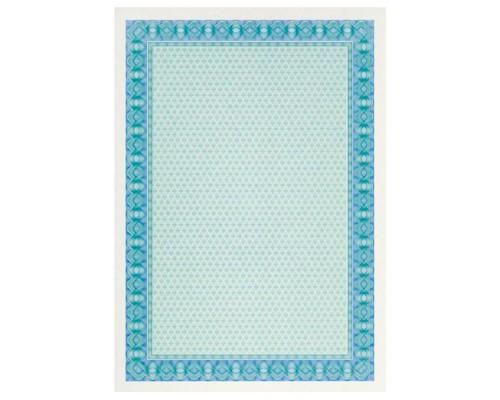 Бумага для сертификатов DECADRY А4, 115г/м2, Двойная голубая спираль, 25л.