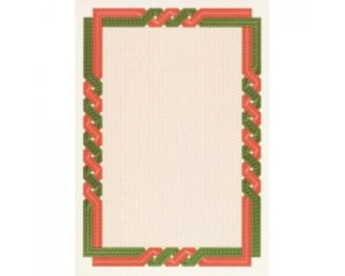 Бумага для сертификатов DECADRY А4, 115г/м2, Красно-зеленая рамка, 25л.