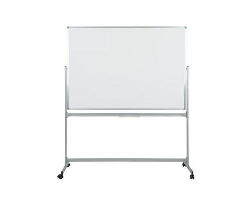 Доска белая, магнитно-маркерная, 120x100см, мобильная, поворотная, алюминиевый профиль