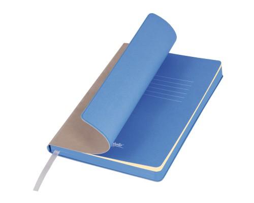Ежедневник A5 145х210мм 256стр, недат, кожзам, PORTOBELLO River side, бежевый/голубой