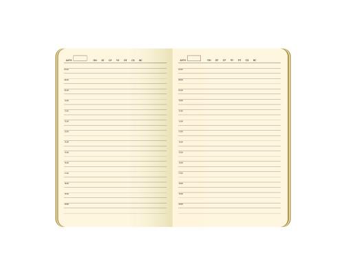 Ежедневник A5 145х210мм 256стр, недат, кожзам, PORTOBELLO Latte, голубой/синий