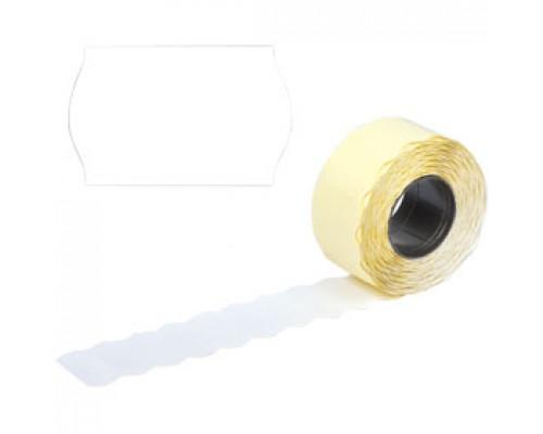 Этикет лента 26х12 белая волна 1000шт/рул 10рул.