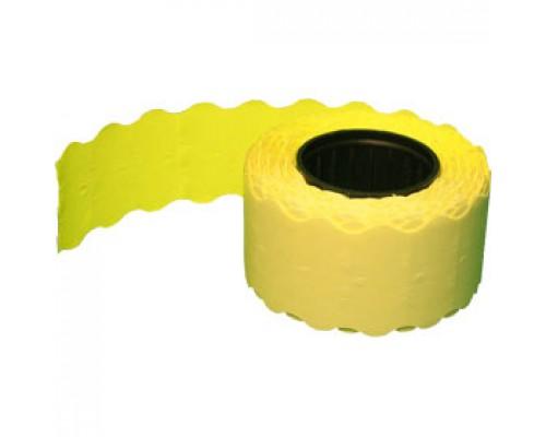 Этикет лента 26х12 желт волна 1000шт/рул 10рул.