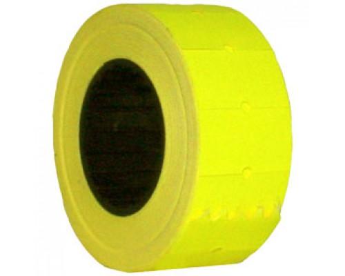 Этикет лента 21,5х12 желт прям 1000шт/рул 10рул.