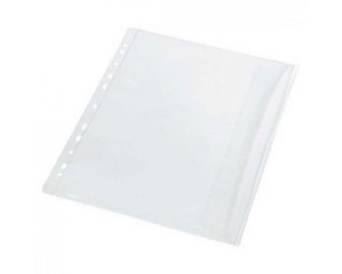 Карман для папок 150мкм А4, с перфорацией, расширяющимся дном, загрузка сбоку, PANTA PLAST, матовый, 10шт