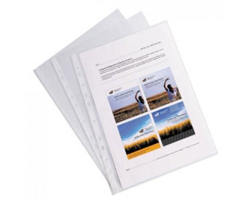 Карман для папок 35мкм А4 ERICH KRAUSE Clear Standart, с перфорацией, глянцевый, 100шт