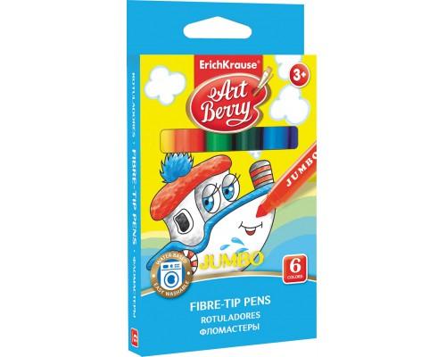 Фломастеры ArtBerry Jumbo Easy Washable 6 цветов, ассорти
