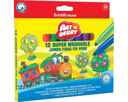Фломастеры ArtBerry Jumbo Easy Washable 12 цветов, ассорти