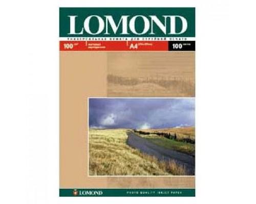 Фотобумага 100г/м2 А4 LOMOND 0102002, 2-сторон. матовая, 100л.