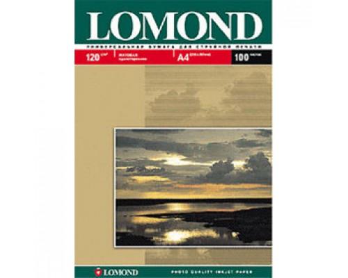 Фотобумага 120г/м2 А4 LOMOND 0102003, 1-сторон. матовая, 100л.