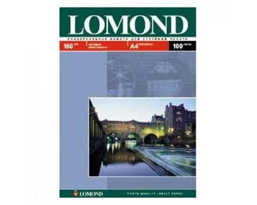 Фотобумага 160г/м2 А4 LOMOND 0102005, 1-сторон. матовая, 100л.