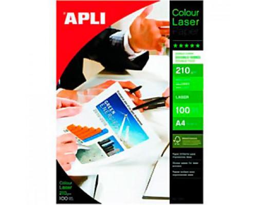 Фотобумага 210г/м2 А4 APLI, 2-сторон. глянцевая, для лазер. принтера, 100л.