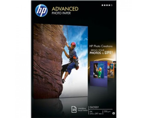 Фотобумага 250г/м2 А4 HP Q5456A, 1-сторон. глянцевая, 25л.