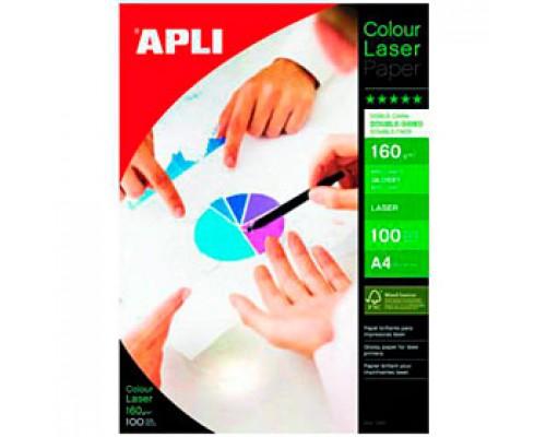 Фотобумага 160г/м2 А4 APLI, 2-сторон.глянцевая, для лазер. принтера, 100л.