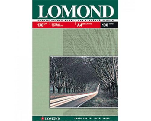 Фотобумага 130г/м2 А4 LOMOND 0102004, 2-сторон. матовая, 100л.