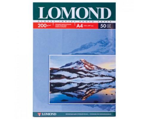 Фотобумага 200г/м2 А4 LOMOND 0102020, 1-сторон. глянцевая, 50л.