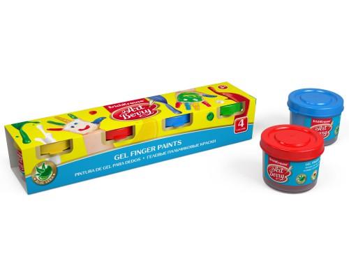 Пальчиковые краски ArtBerry с Алоэ Вера, 4 цвета/35мл