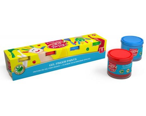 Пальчиковые краски ArtBerry с Алоэ Вера, 4 цвета/100мл