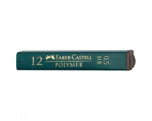 Грифели 0,5мм FABER-CASTELL НВ, 12шт., в пенале