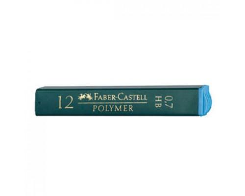 Грифели 0,7мм FABER-CASTELL НВ, 12шт., в пенале