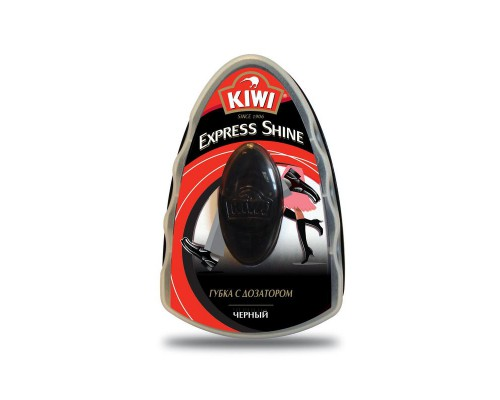 Губка для обуви Kiwi черная 7 мл (с дозатором)