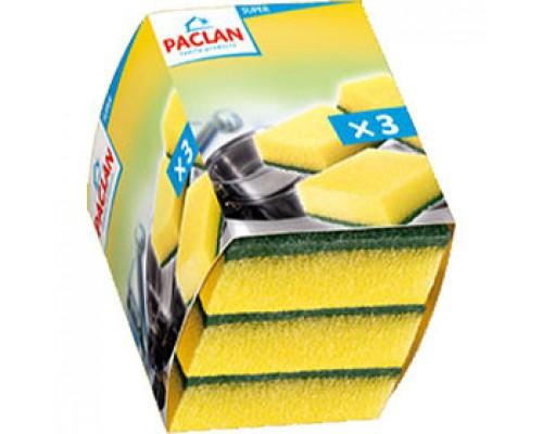 Губка PACLAN 7х9см, д/посуды, 3шт.