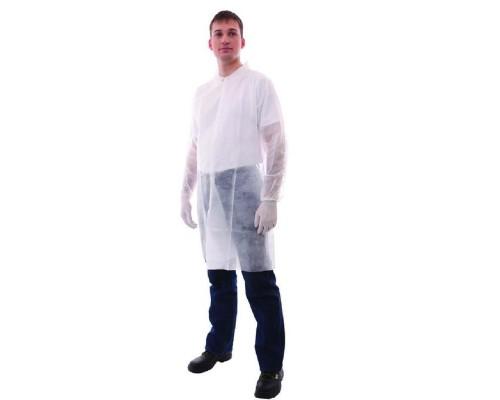 Халат медицинский на кнопках, белый (размер 50-54, 10 штук в упаковке)